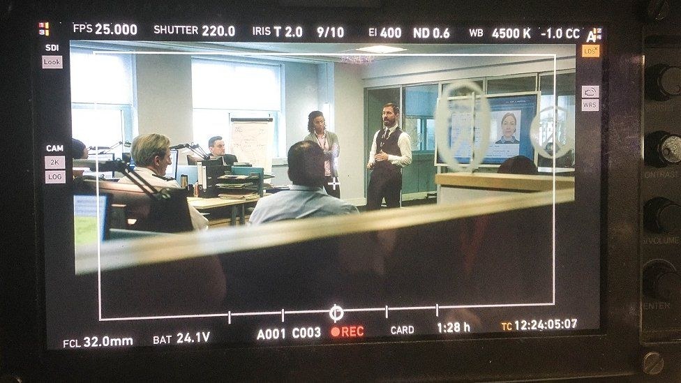 An image from the first day of filming Line of Duty's sixth series