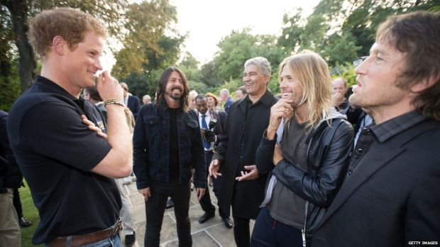 Prince Harry and Foo Fighters