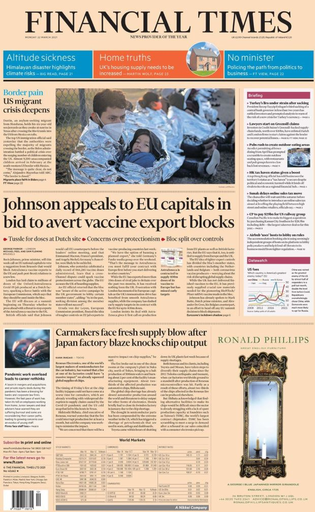 The Financial Times 22 March