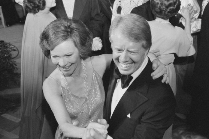 Dancing at a White House ball, December 1978