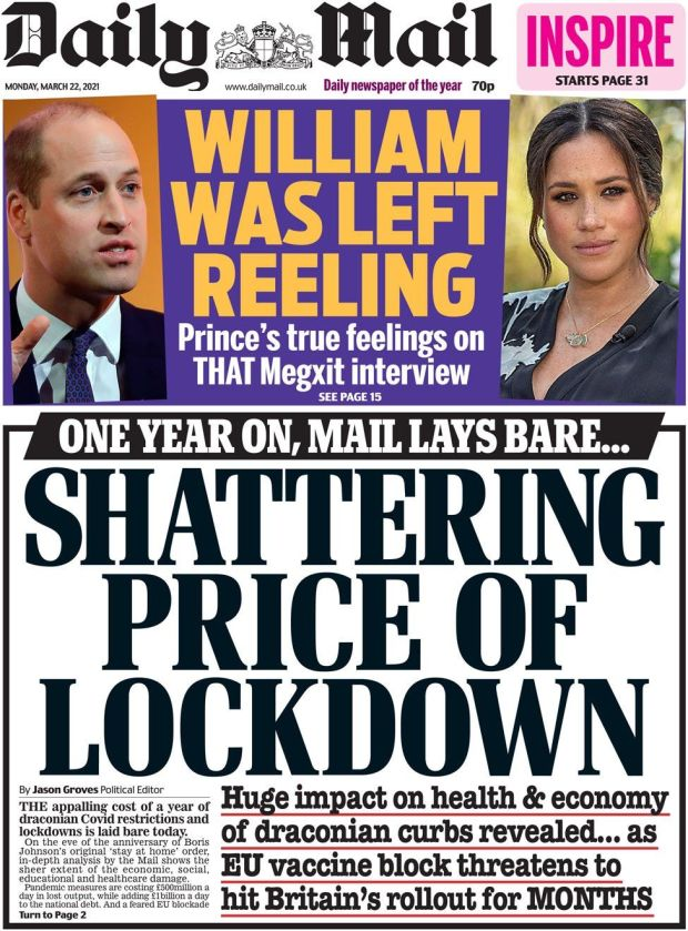 The Daily Mail 22 March