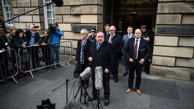 Salmond outside court