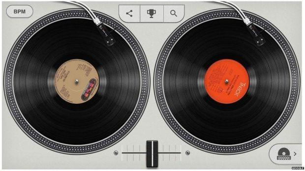 Hip-hop google doodle turntables