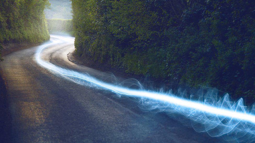 Photo of broadband signal