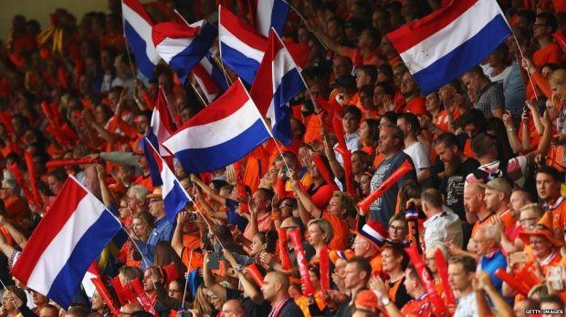 Crowds for the quarter-final match between Netherlands v Sweden