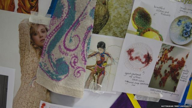 Details from Halima's moodboard showing her inspirations