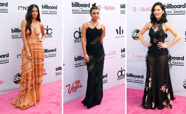 Nicole Scherzinger, Lea Michele and Olivia Munn