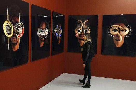 Photographic art by artist Cyrus Kabiru from Kenya at the Zeitz Museum of Contemporary Art Africa.