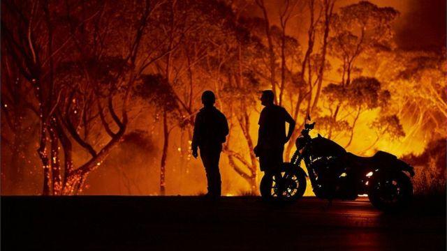 Image result for Strong winds create Australian 'mega blaze'