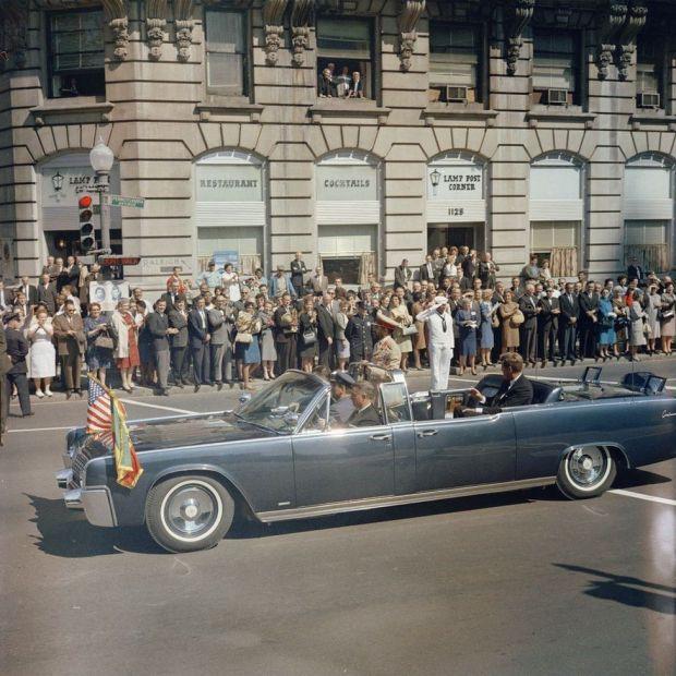 Haile Selassie being driven through Washington