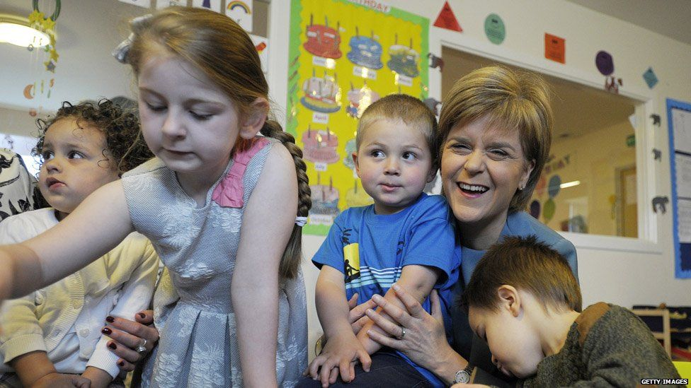 Image result for Nicola Sturgeon with kids