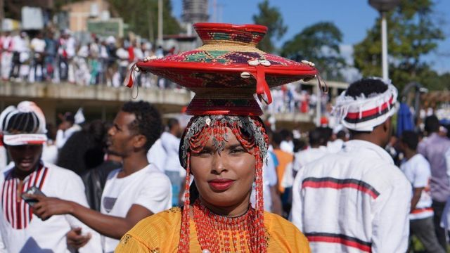 Woman in traditional costume