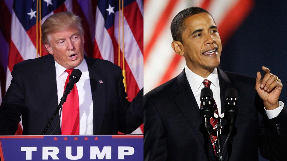 Image result for images of Obama vs Trump