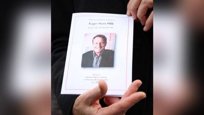 A funeral orderof Roger Hunt