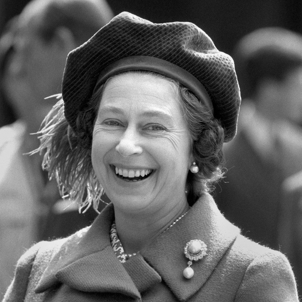 Queen Elizabeth II smiling as she celebrated her 48th birthday at Windsor Castle