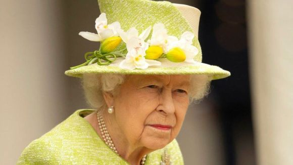 Queen Elizabeth II during a visit to The Royal Australian Air Force Memorial on 31 March