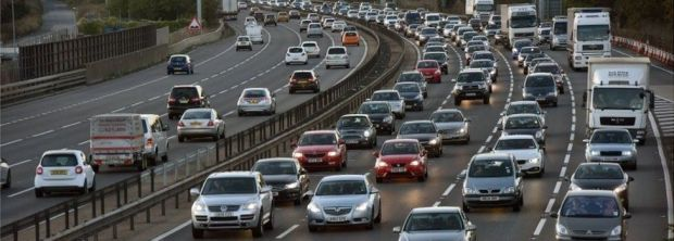 Heavy motorway traffic