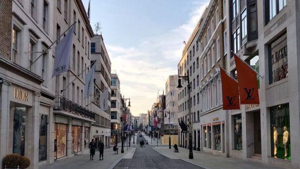 Designer shops on Bond Street