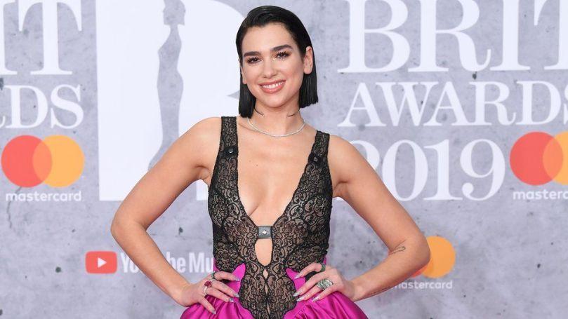 Dua Lipa at the Brit Awards in 2019