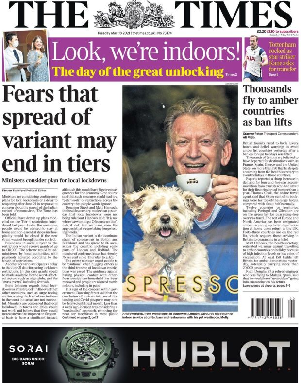 The Times 18 May