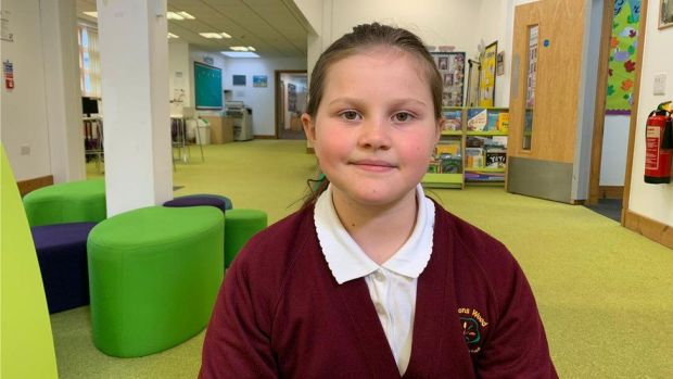 Verity, Year 4 pupil at Jeavons Wood Primary School in Cambourne