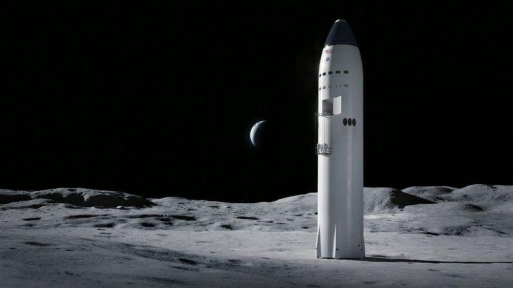 Starship on Moon