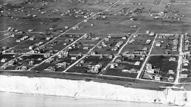 An aerial view of Horsham Avenue and environs, Peacehaven, from the south, taken in 1933