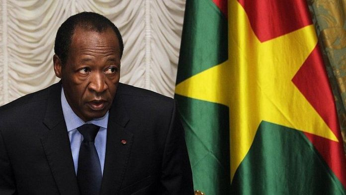 Burkina Faso's Blaise Compaore in 2014 during his presidency.