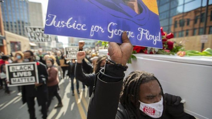 protesters call for Justice for George Floyd
