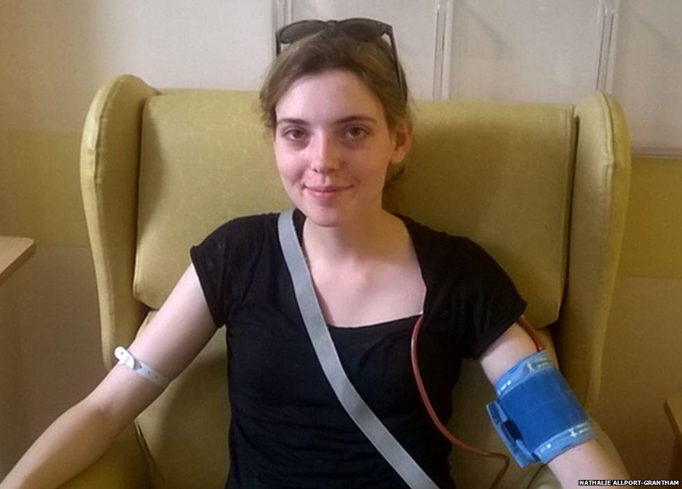Nathalie in hospital