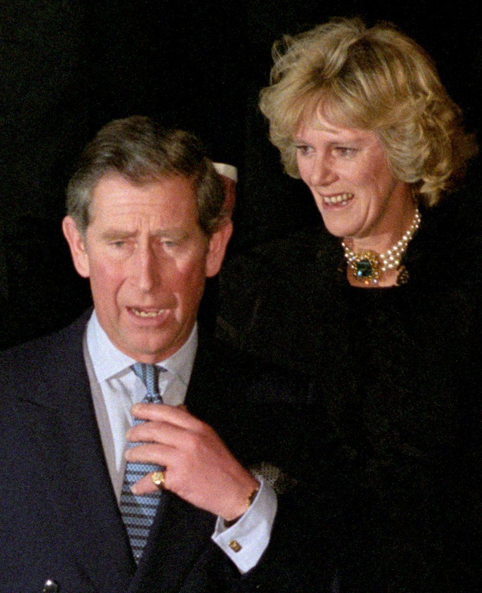 Prince of Wales and Camilla Parker Bowles stepping out in public together for the first time at the Ritz Hotel in London