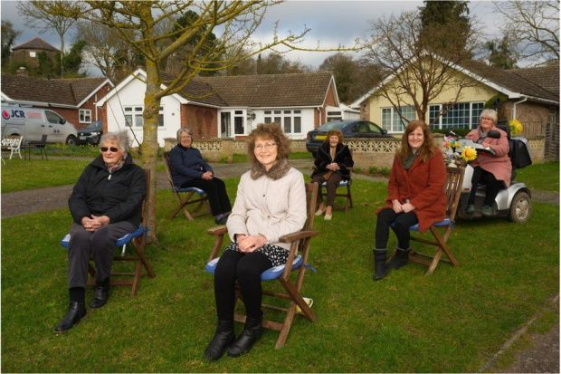 l-r Sylvia Bambridge, Heather Andrews, Lesley Sheldon, Phyllis Jarmyn, Karen Naylor and Fee Willingham