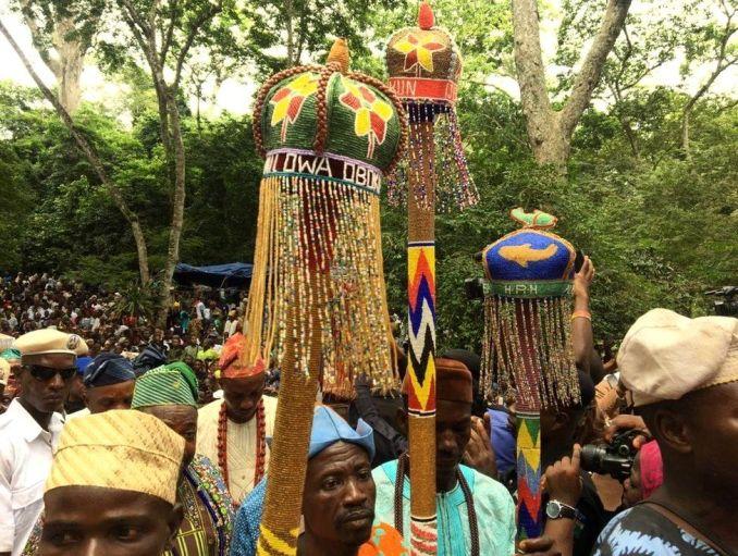 Osun festival in south-western Nigeria - August 2019