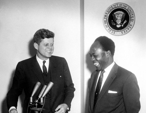 President Kennedy with Kwame Nkrumah