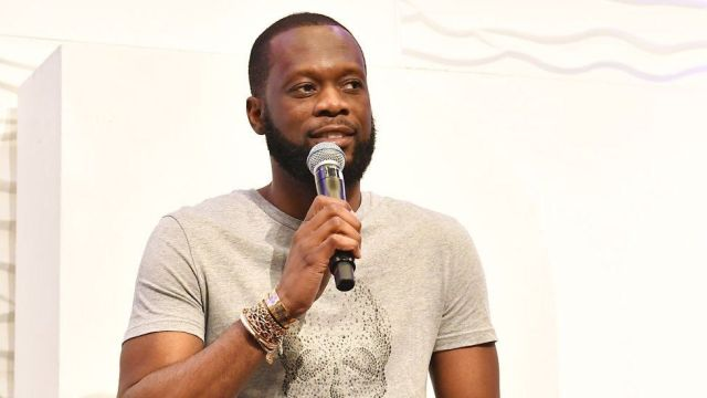 Pras Michel of the Fugees onstage during RollingOut 2018 Ride Conference.