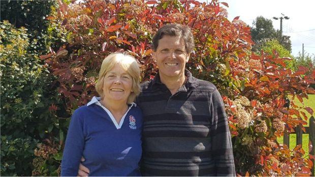 Wendy and her husband Nigel