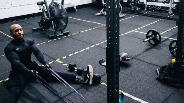 Man working out at Elite Evolution
