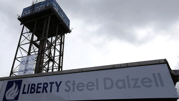Liberty Steel plant in Dalzell, Scotland