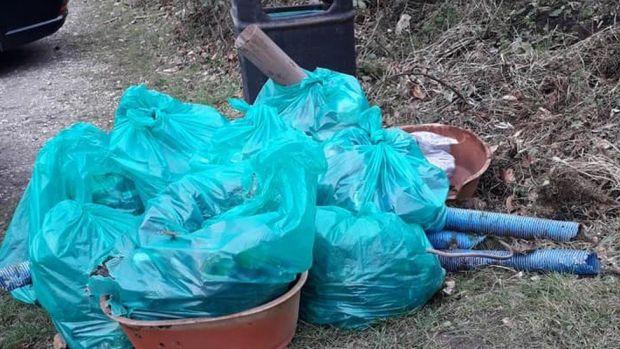 Bags of litter found by the Lichfield Litter Legends