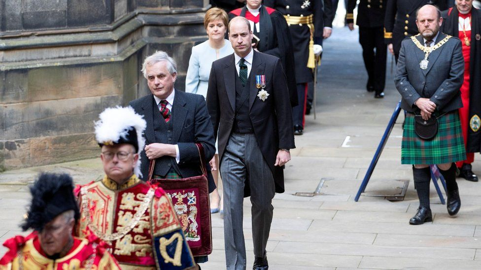 Prince William arrives for the opening ceremony of the General Assembly of the Church of Scotland