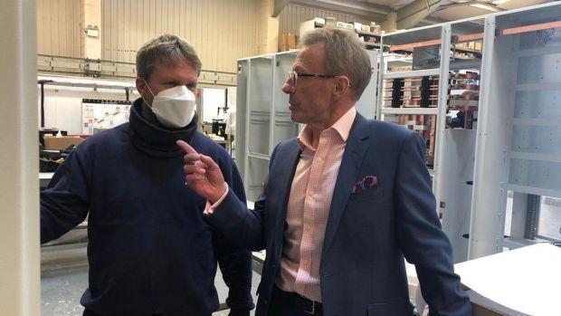 Chris Pratt (left) MD of Elecsis Systems