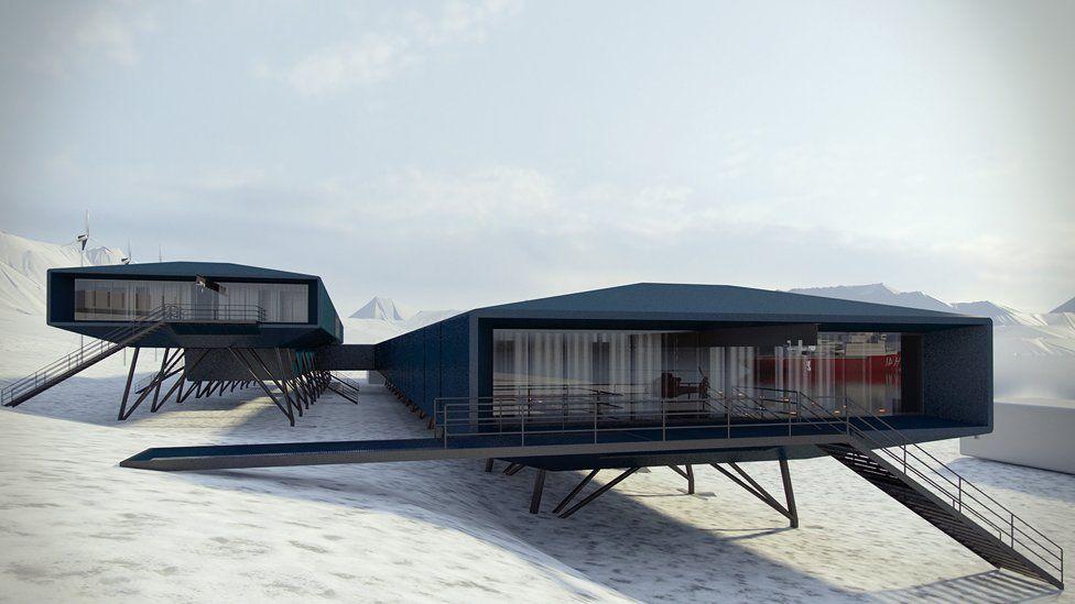 A design of the Brazilian Comandante Ferraz station