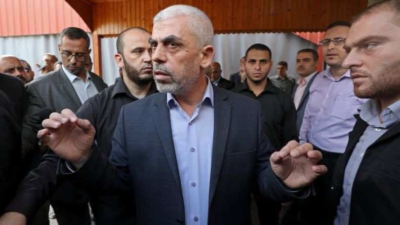 Yahya Sinwar in Gaza City, 28 October 2019