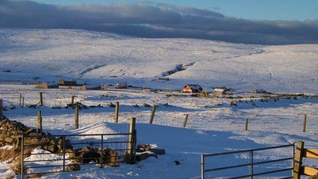 Baltasound on the Shetland Islands