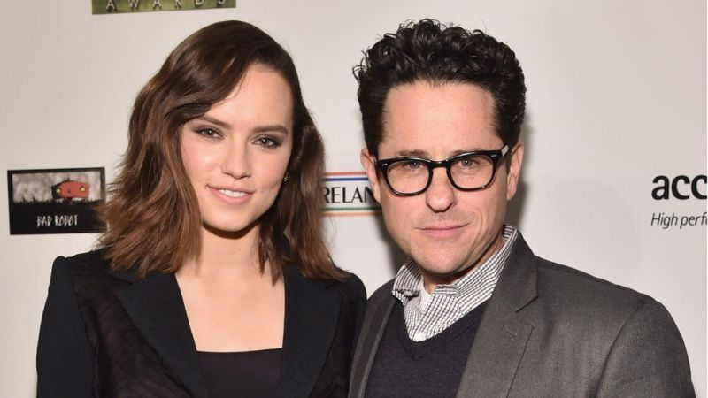 Ridley with JJ Abrams