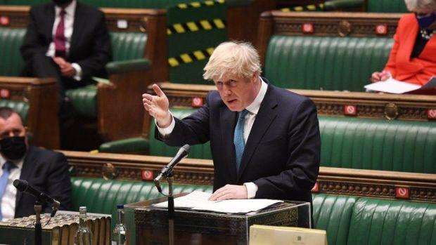 Boris Johnson in Parliament