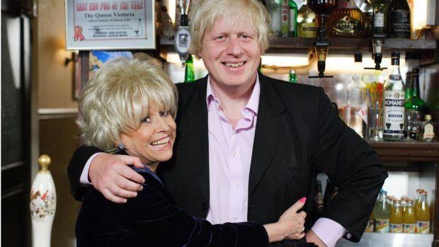 Peggy Mitchell and Boris Johnson