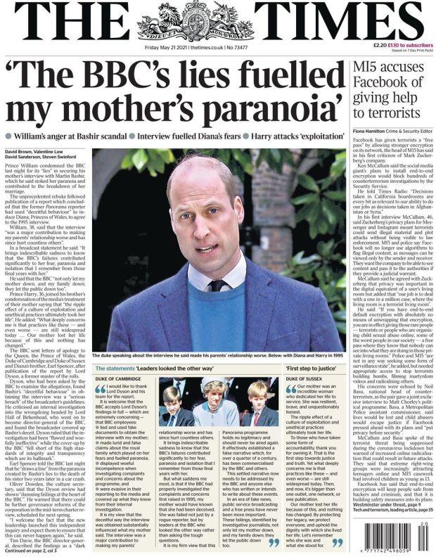 The Times 21 May