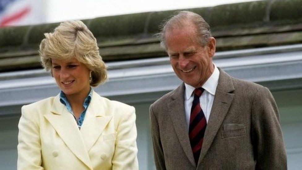 The Duke with Diana, Princess of Wales