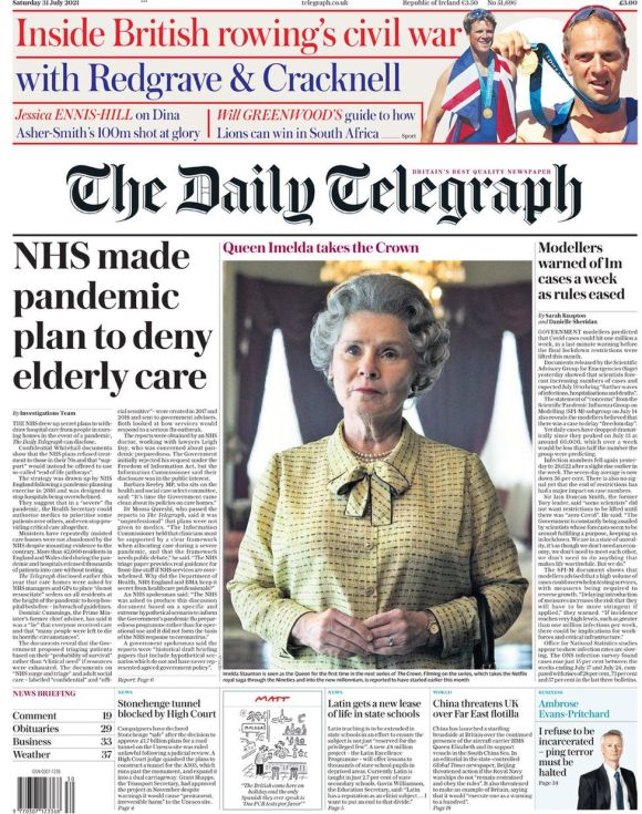 The Daily Telegraph 31 July